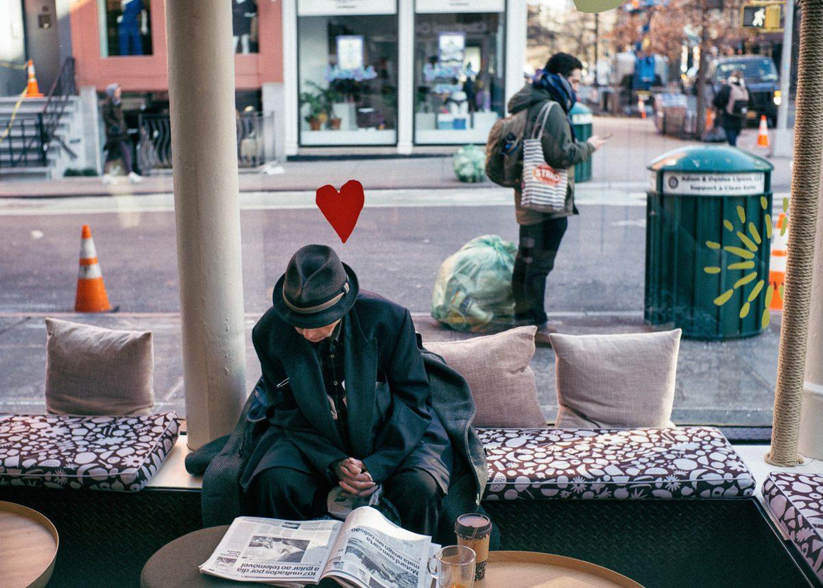 melancholy loves newspaper