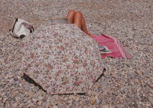 umbrella on the seaside